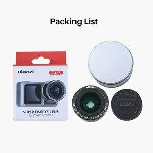 Image 4 - ULANZI OA 5 Macro Lens OA 6 Fisheye Lens voor DJI Osmo Action Optische Glazen Lens Alluminum Lichtmetalen Lens Osmo Action Accessoires