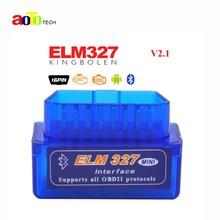 Super Bluetooth MINI ELM327 V2 1 New OBD2 OBDII ELM 327 for Android Torque Car Code