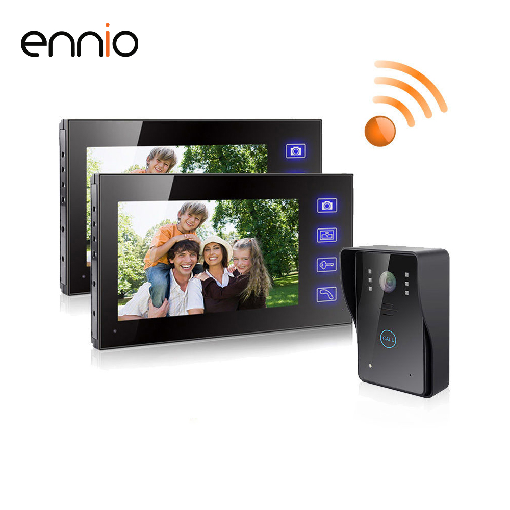 ENNIO SY806MJW12 7 Inch TFT Wireless Video Door Phone Intercom Home Security doorphone system kit Video