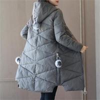 2017 Wadded Jacket Female Women S Winter Jacket Cotton Hooded Warm Jacket Slim Parkas Ladies Coats