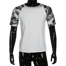 KLV brand 2017 new fashion summer t shirt men o-neck comfortable Men's  Camouflage O-Neck Half Sleeve T-Shirts Basebal clothing