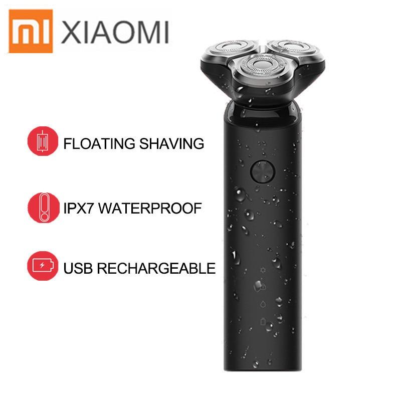 Xiaomi Mijia rasoir électrique pour hommes sèche humide Machine à raser tondeuse à barbe USB Rechargeable double lame Turbo + Mode