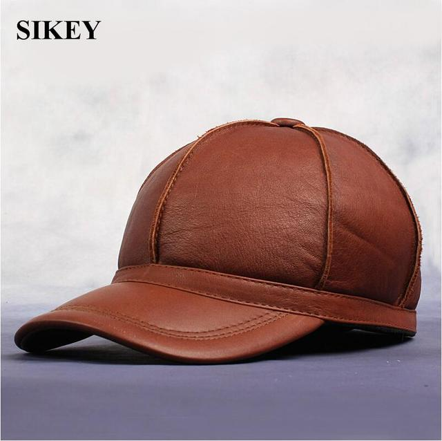 HL028-2  New Men's Women's 100% Real cow Leather Golf Hat / Baseball Cap *2 Colors