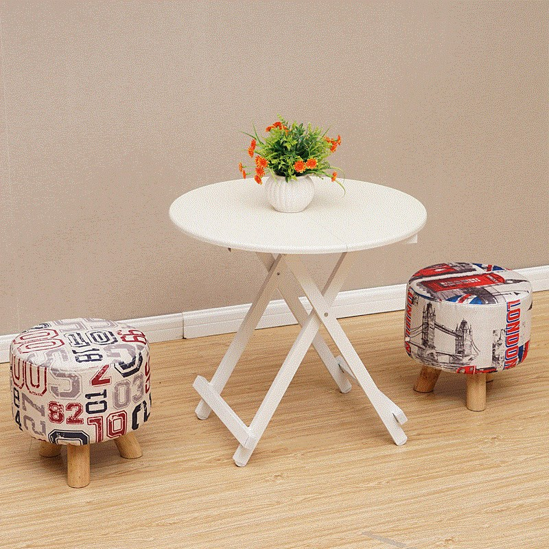 Foldable Wood Table Simple Mini Furniture Dinning Table Set Desk Outdoor Folding Table