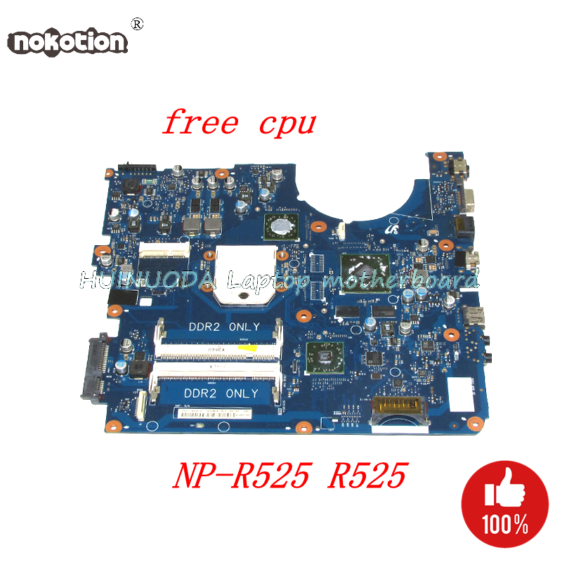 NOKOTION BREMEN-D Laptop Motherboard For Samsung NP-R525 R525 DDR2 HD5000 GPU BA92-06014A BA92-06014B Main board Free cpu ba92 05907b ba92 05907a notebook pc motherboard for samsung r505 main board sockets1 ddr2 ati discrete graphics free cpu