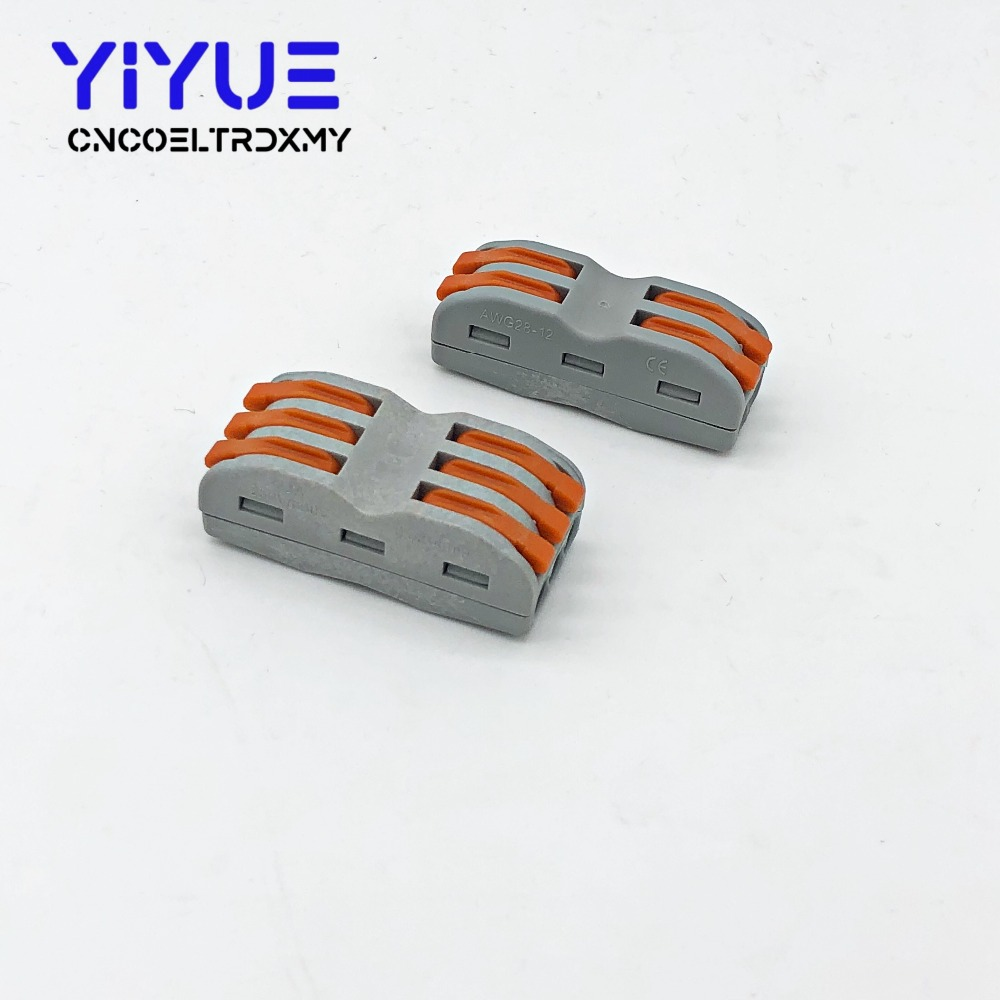 Type 10PCS Electrical Wiring Terminals Household Wire Connectors Fast Terminals For Connection Of Wires Lamps And Lanterns in Connectors from Lights Lighting