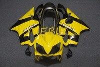 Yellow black Injection Fairing Body Work Frame Kit for HONDA CBR600 CBR 600 CBR600F F4I 2004 2005 2006 2007