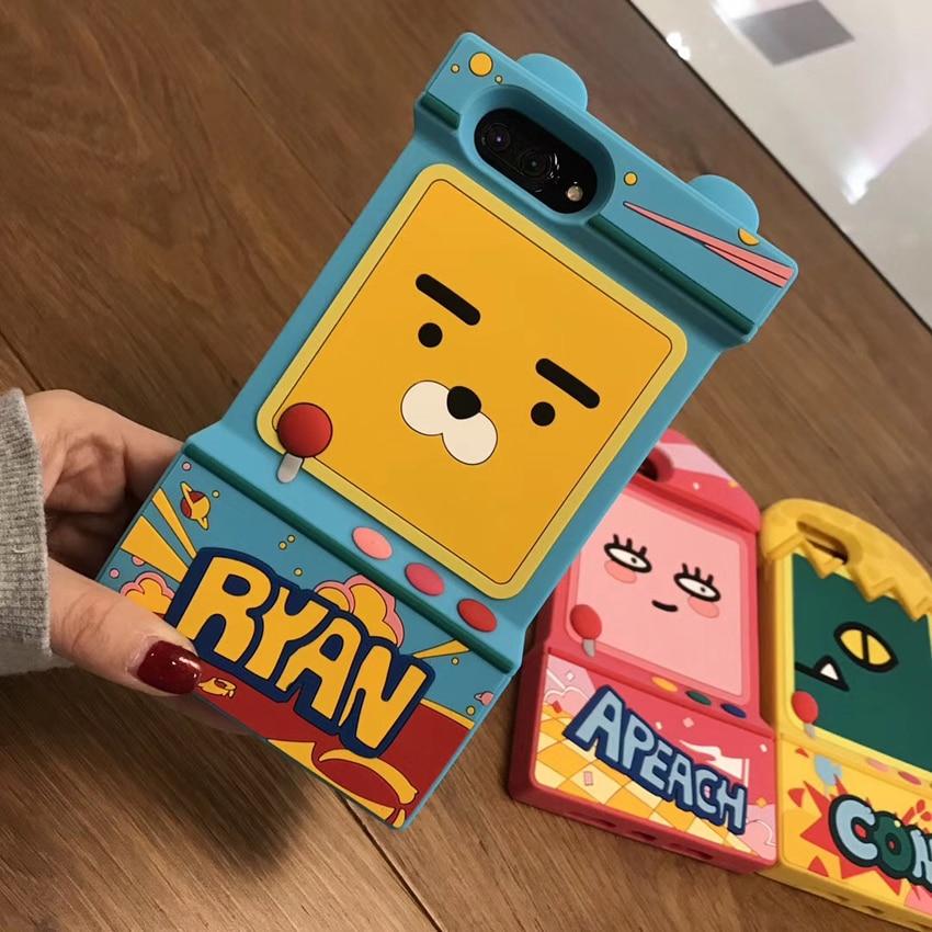 For iPhone 8 Korea Kawaii Forest animals Apeach Muzi Neo Ryan bear for iphone X 7 / 7plus/ 6 6S / 6S plus 8plus soft phone case