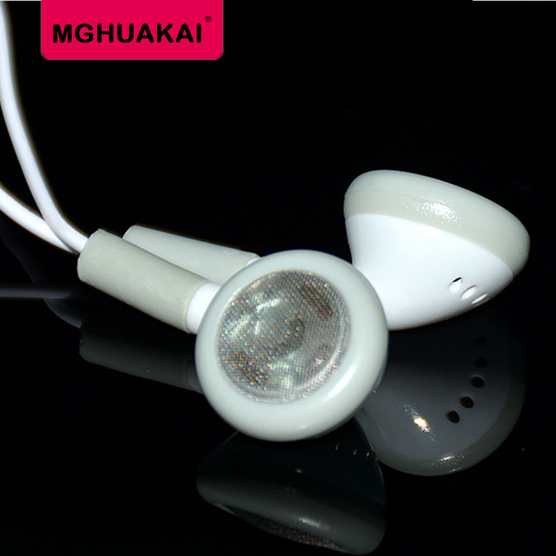 MGHUAKAI 3.5mm Cheapest White In-ear Earphone Earbuds Wired TPE for Mobile Phone Xiaomi PC Gaming Audifonos