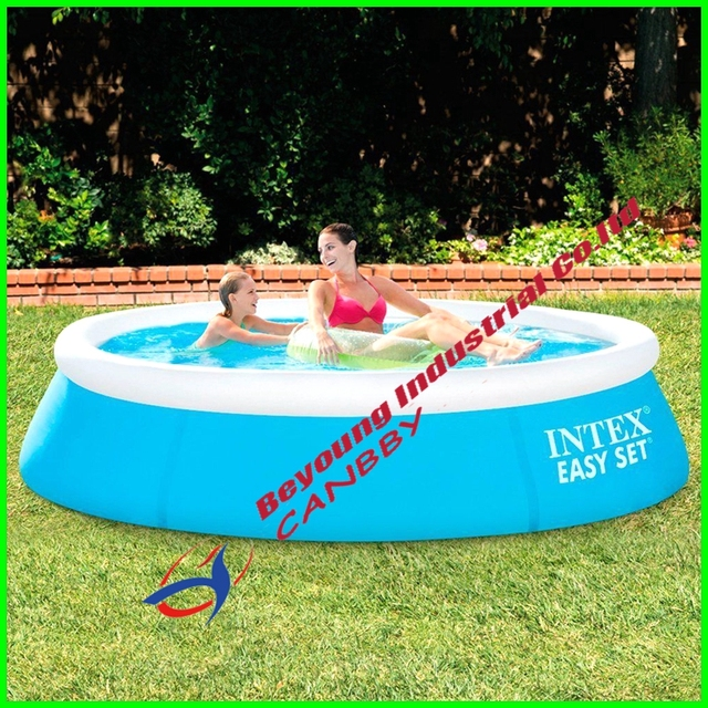 Piscine Gonfiabili Da Giardino.Us 33 63 10 Di Sconto Intex 6ft X20in Piscina Easy Set Piscina Rotonda Gonfiabile Piscina Per I Bambini Da Giardino Uso In Intex 6ft X20in Piscina