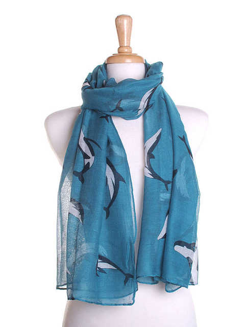 d91986913 Teal Whale Print Scarf / Spring Summer Scarf / Autumn Scarf / Womens Scarves  / Fall Fashion Wrap / Cute Birthday Gift -in Women's Scarves from Apparel  ...