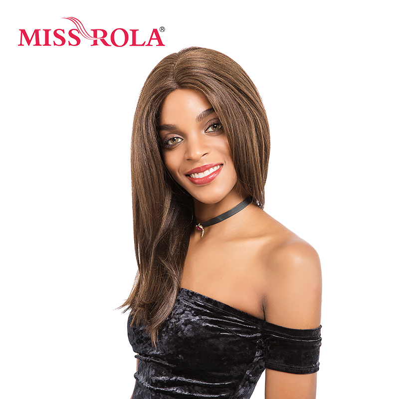 Мисс Рола Искусственные парики Синтетические Волосы средней длины Kanekalon Синтетический Frontal шнурка волос Искусственные парики для Для женщи...