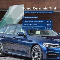 VLT 75% Light Blue Building Window Film Car Window Tint Nano Ceramic Window Film Size:1.52*20M/Roll