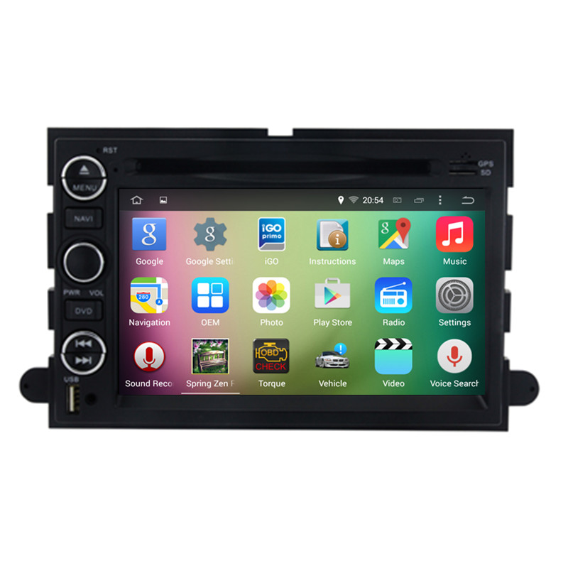 7″ Android 5.1 Quad Core Car Radio DVD GPS Navigation Central Multimedia for Ford Explorer Mustang Fusion Edge Escape Expedition