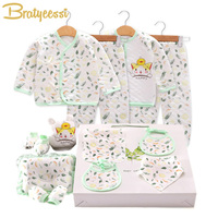 15 Pcs/Set Cotton Newborn Clothes Winter Spring Print Baby Boy Girl Clothes Set New Born Gift Infant Clothing