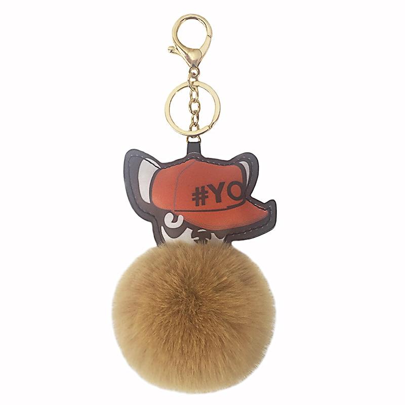 100% Wahr 12 Cm Cartoon Hund Keychain Tragen Einen Hut Welpen Pelz Ball Schlüssel Ring Anhänger Frauen Schlüssel Ketten Für Handtasche Auto Telefon Geschenke Für Frauen