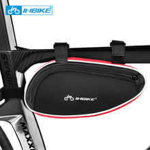 INBIKE Bicycle Frame Bag Outdoor Cycling Bike Top Tube Bag Cycling Pannier Bike Accessories Bicycle Repair Tool Bag Triangle outdoor cycling non woven fabric bike top tube double storage bag black