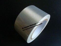1x10 см, 100 мм * 20 метров Серебряная односторонняя клейкая проводящая ткань тканевая лента EMI Защитная маскирующая кнопка для ремонта
