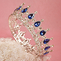 2016 Wedding Bridal Bridesmaid Water Drop  Girl White Gold Plated Quinceanera Kings Queens Tiaras And Crowns Pageant Headband