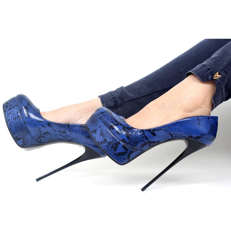 Ladies Party Shoes Platform High Heels Round Toes Pumps Big Size High Heels Pumps Size43,44,45,46