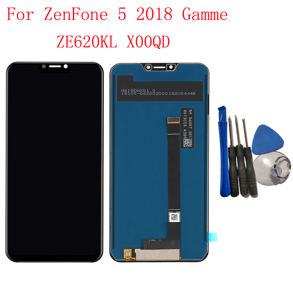 Original Display 6 2 For ASUS ZenFone 5 ZE620KL X00QD Touch Screen Digitizer LCD Display For
