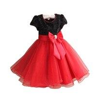Nóng Bán Công Chúa Red Gowns Cô Gái Gạc Đầm Quần Áo Hiệu Suất Bling Bé Cô Gái Ăn Mặc Trẻ Em Quần Áo Váy Cosplay