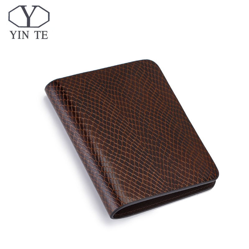 YITNE Fashion Men Short Wallets Brown Bifold Wallet Mens Luxury Brand Leather Card Holder Money Cash Wallet Purses Pockets W608B