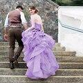 Lavender Wedding Dresses 2016 Hot Romantic Halter Sleeveless Princess Dress Vestido de noiva Tiered Pleat Wedding Bridal Gowns