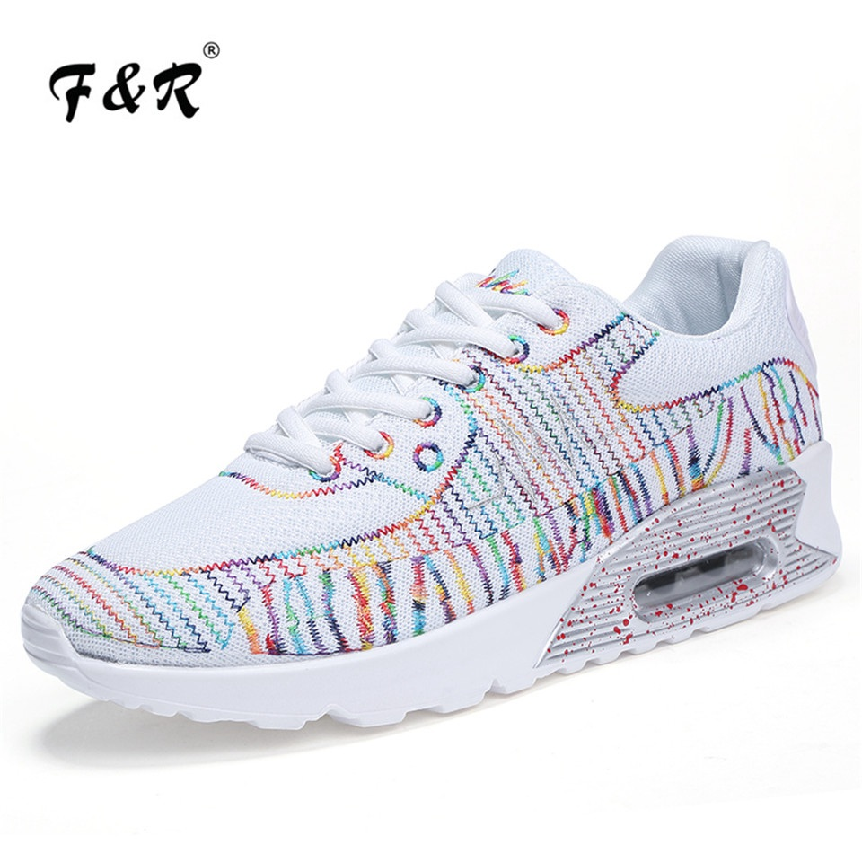 F&R 2018 Spring Summer Men Women Running Shoes Outdoor Walking Sneakers Lightweight Air Sole Jogging Trainers Tennis Shoes 35-44