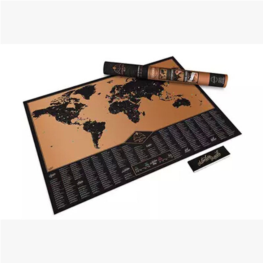 Best-Selling Adventure World Adventure Travel Scratch Map Scratch Version Of The Map Black Creative Adventure Map