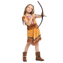 Sweet Indian Princess Costume for Girls Girl Huntress Cosplay Halloween Purim Party Carnival Costumes Dress Up цена