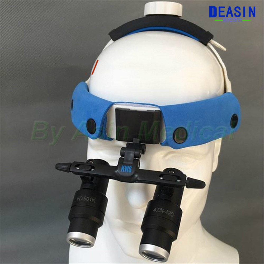 New 4X 5X 6X Binocular Type Headset type Dental Loupes Medical Surgical Dentist Loupe Magnifier Glasses