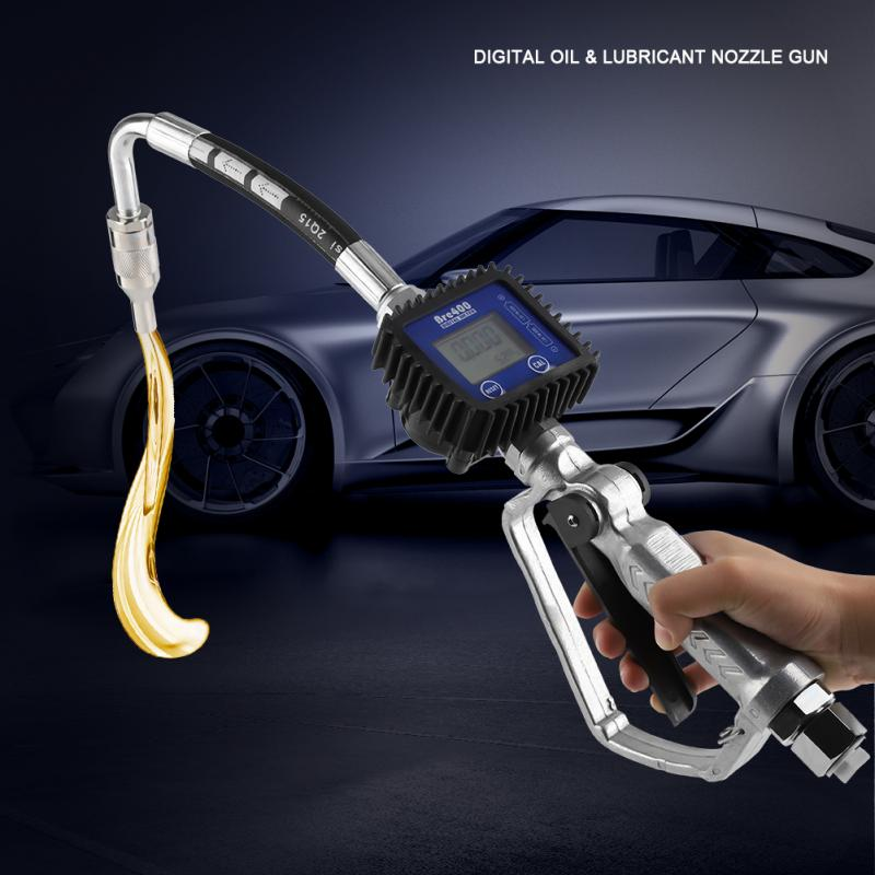 Tools : Digital Fuel Oil Lubricant Nozzle Gun Fueling Nozzle with Flow Meter