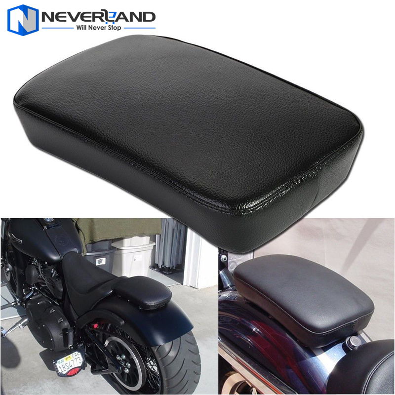 Motorcycle Rear Passenger Cushion 6 8 Suction Cups Pillion Pad Seat For Harley Dyna Sportster Softail Touring XL 883 1200