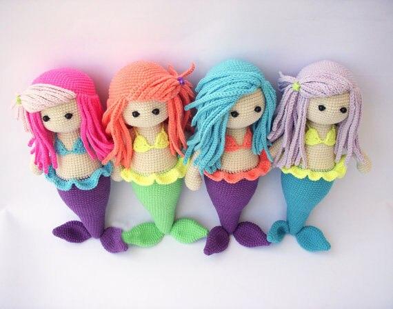 Häkeln Puppe Amigurumi Puppe Meerjungfrau Häkeln Puppe Rattle Häkeln