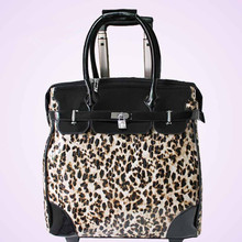ZIRANYU Ms PU Luggage Women's Hand Trolley case Genuine UNEQUAL PU suitcase bags Leopard Snake Satchel  PU Fashion bag for girl