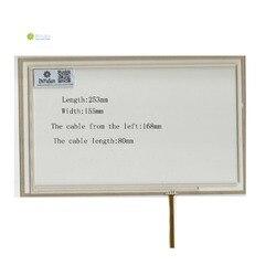 ZhiYuSun 253mm * 155mm 10.4 cal 4 linie nowy ekran dotykowy panel dotykowy czujnik szkła 253*155 dla DVD samochodowy ekran dotykowy