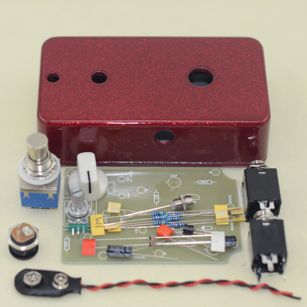 Guitar pedal Musical instruments BOOSTER/ BOOST clean Guitar Effect Pedal Boost /True Bypass kit diy booster boost clean guitar effect pedal boost true bypass booster kits fp