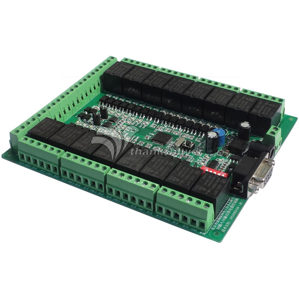 Smart Relay Controller Board 16 Channels Photoelectric Input 16 Channels Relay Output with Optocoupler Isolation RS485