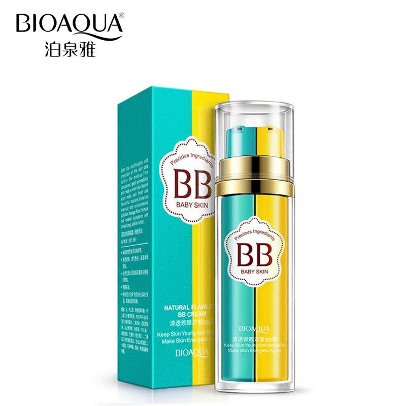 BIOAQUA Brand Double Color BB Cream Liquid Foundation Makeup Moisturizer Concealer Base Primer Make Up Corrector Nude Cosmetics in BB CC Creams from Beauty Health