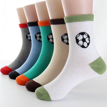 CHILDREN WIT Spring&Autumn Children Socks Cotton Football Student Boys Girls socks 3-12 Year Kids Socks 5 Pairs / Lot