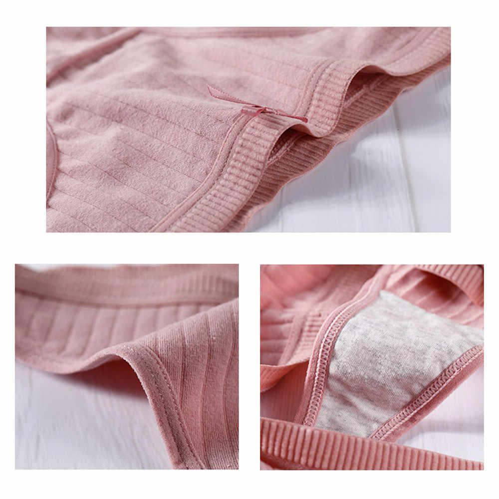 Lencería Sexy de algodón para mujer G-String Tanga Panties ropa interior de cuerda bragas de mujer Bragas íntimas de mujer de baja altura 1 pieza