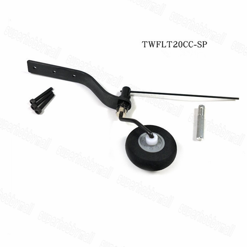 Carbon Fiber Tail Wheel Set Untuk Gas 20cc RC Airplane sponge Wheel BARU