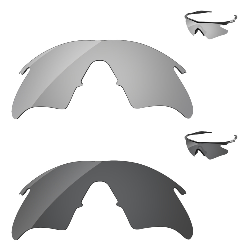 269f8c119aa Black   Chrome Silver 2 Pieces Polarized Replacement Lenses For M Frame  Heater Sunglasses Frame 100% UVA   UVB Protection-in Accessories from  Apparel ...