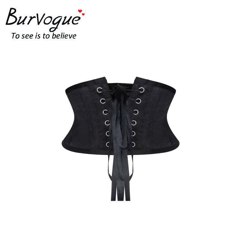 cf4427b428f Burvogue Women Waist Trainer Corsets Slimming Shaper Belt Short Torso Satin  Underbust Corset Sexy Lace Up Bustiers   Corsets -in Bustiers   Corsets  from ...