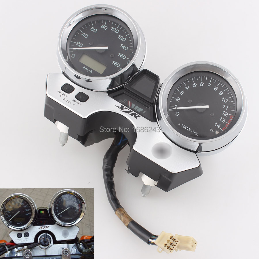 Motorcycle Gauges Cluster Speedometer Tachometer Odometer Instrument Assembly Fits For YAMAHA XJR400 1998 2002 New