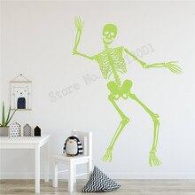 Halloween Luminous Wall Sticker Removeable Poster Vinyl Art Home Decoration Beauty MOdern Decor Festive Mural Decorative LY797 недорого