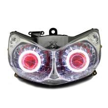 KT Headlight for Honda ST1300 Pan-European 2001-2016 LED Angel Eye Red Demon Eye Motorcycle HID Projector Assembly 14 13 12 11