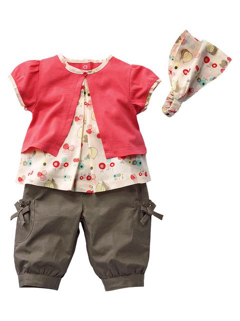 Varejo novo terno do bebê conjunto criança, De cabeça + rosa + marrom calças, Desgaste do bebê roupas de criança, Frete grátis