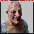 Free shipping Halloween Party Cosplay Realistic Hornless Evil demon scary zombie latex mask Big nose goblin Horror Clown Mask